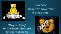 * £888.20 raised*  Non Uniform Day - Children in Need - Friday 17 November