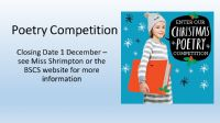 Christmas Poetry Competition