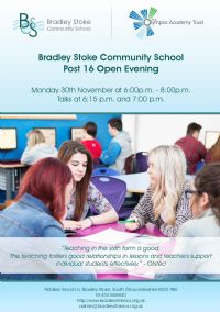 Post 16 Open Evening - Monday 30 November 2015