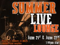 Summer Live Lounge - Wednesday 21 and Thursday 22 June 2017