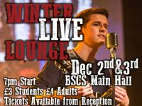 Winter Live Lounge - 2 & 3 December  7pm
